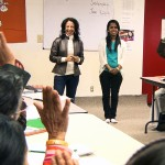 Clarkston-Maria and Dora Dhakal at Citizenship Class